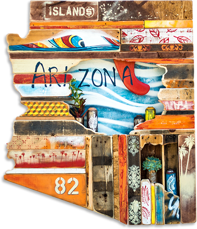 Artistic Map of Arizona
